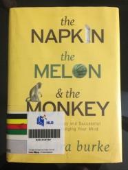 The monkey eats the melon, and needs the napkin.